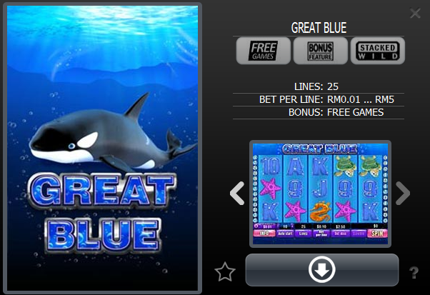 great blue slot game