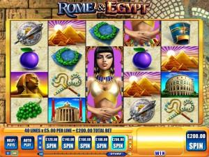 StarSpins slots rome & egypt